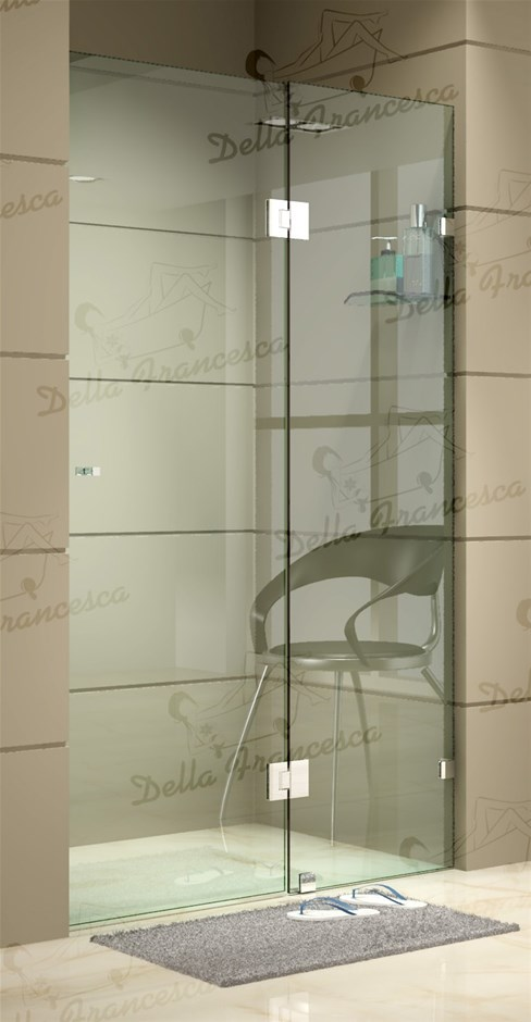1200 x 2000mm Frameless Shower Screen 10mm Glass By Della Francesca
