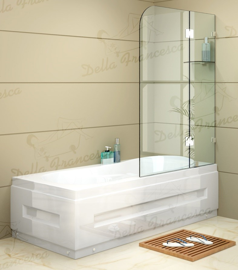 1200 x 1450mm Frameless Bath Panel 10mm Glass Screen By Della Francesca