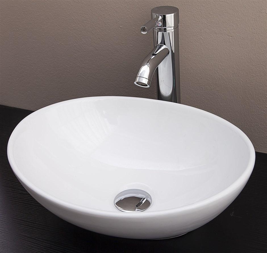 Bathroom vanity basin - Above Counter Bathroom Vanity Oval Ceramic Basin