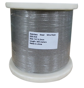 305M G316 STAINLESS STEEL WIRE ROPE 3.2M