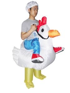 CHICKEN Fancy Dress Inflatable Suit -Fan
