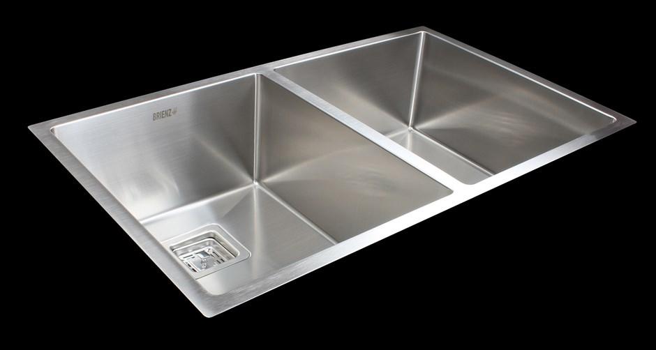 835x505mm Handmade Stainless Steel Undermount / Topmount Kitchen Sink