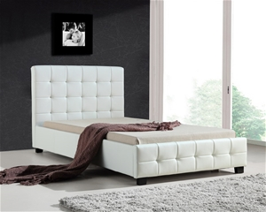 King Single PU Leather Deluxe Bed Frame