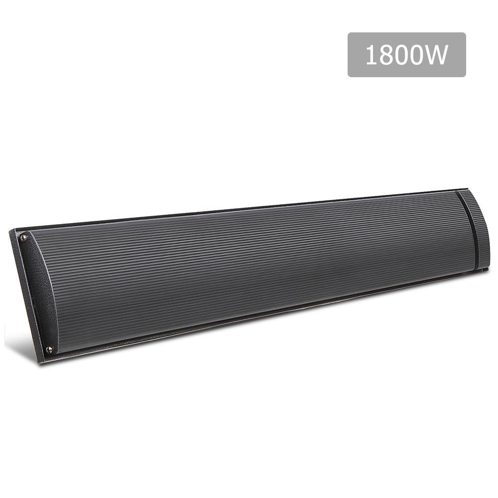 Devanti 1800W Electric Heater Panel - Black
