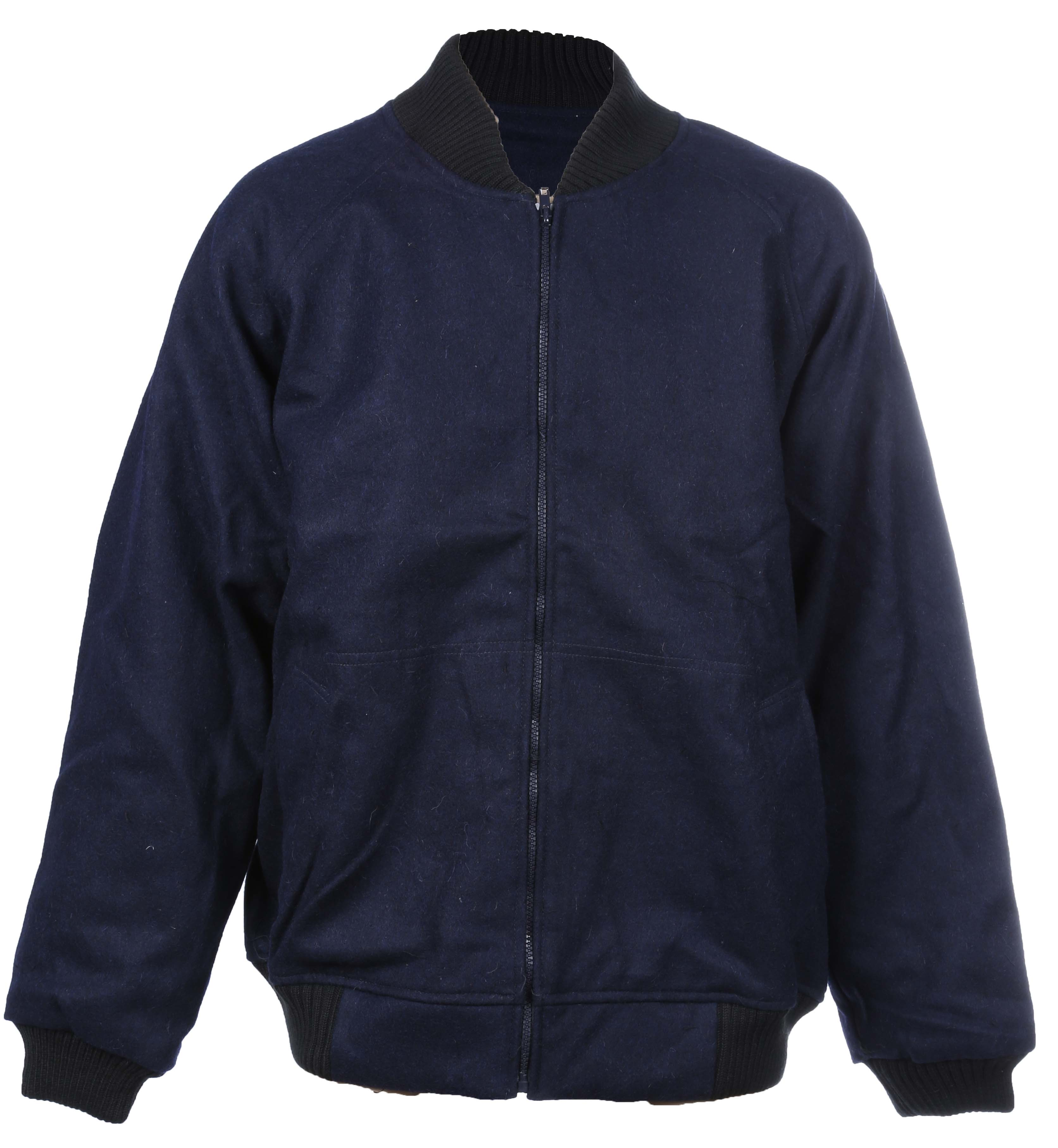 OUTDOOR WORLD Woollen Bluey Jacket, Cotton Lining, Size 5XL, Ribbed Knitted