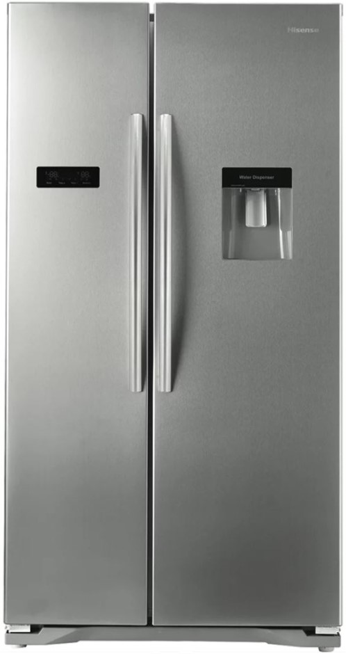 Hisense Stainless Steel 610L Side by Side Fridge (HR6SBSFF610SW)