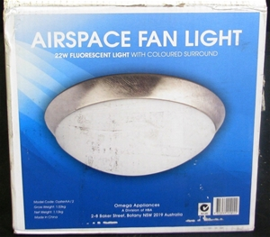 Omega airspace ceiling fan light model oysteraa2 auction omega airspace ceiling fan light mozeypictures Choice Image