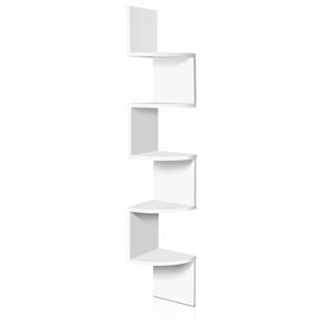 Artiss 5 Tier Corner Wall Shelf - White