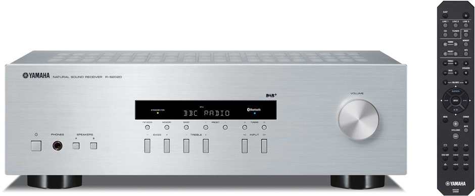 Yamaha R-S202 2 Channel Natural Sound Stereo Receiver (Silver)