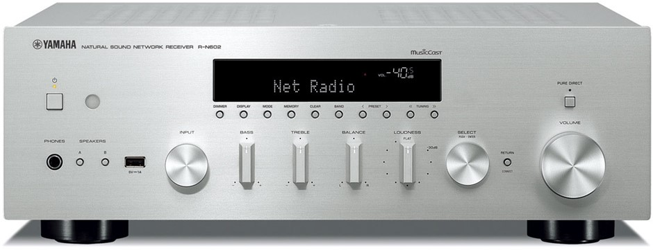 Yamaha R-N602 High-quality Network Hi-Fi Stereo Receiver Receiver (Silver)