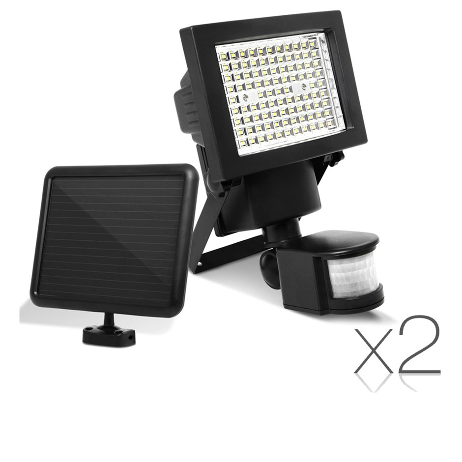 2x 100 LED Solar Sensor Light