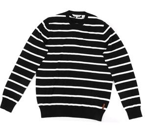 Ben Sherman Mens Striped Sweater Size L Blackwhite 100 Cotton