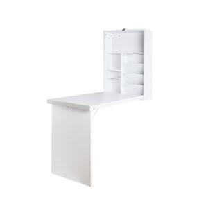 Artiss Foldable Desk with Bookshelf - Wh