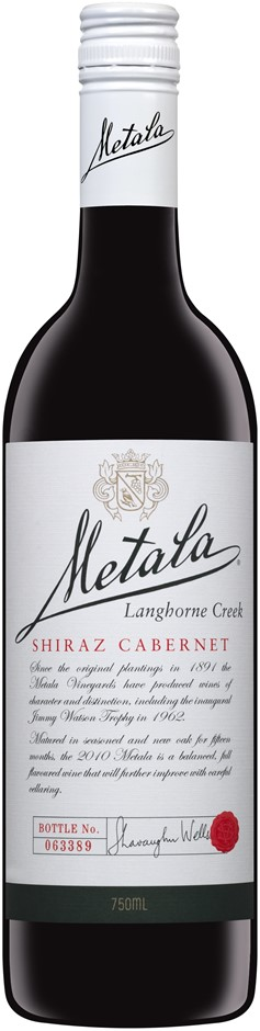 Metala White Label Shiraz Cabernet 2017 (6 x 750mL), Langhorne Creek, SA.