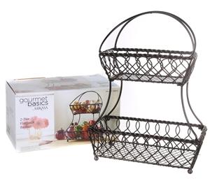 nouvelle collection 3e5c7 e4a20 2 x GOURMET BASICS By MIKASA 2-Tier Flat Back Basket. N.B. ...