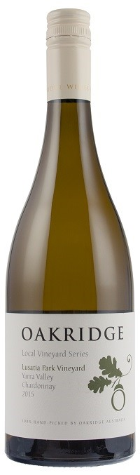 Oakridge`LVS Lusatia Park` Chardonnay 2015 (6 x 750mL), Yarra Valley, VIC.