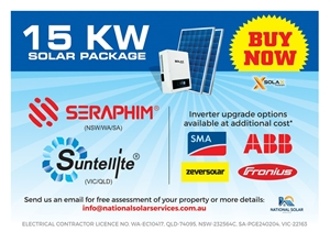 15 KW Solar PV System with Standard Installation Inclusions
