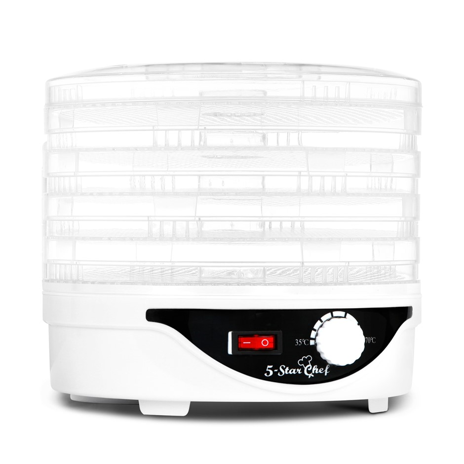 5 Star Chef Food Dehydrator with 5 Trays - White
