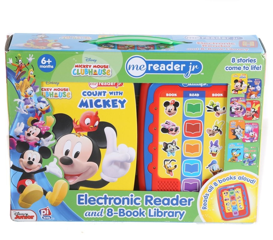 ME READER JR Disney Mickey Mouse Clubhouse Electronic Reader & 8-Book Libra