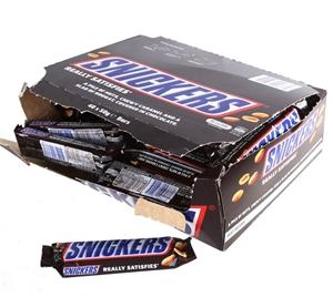 45 x SNICKERS Chocolate Nut Bars 50g. Bu