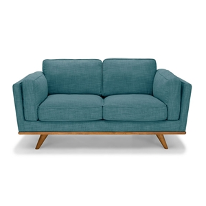 Solid wooden frame Sofa 2 Seater Teal