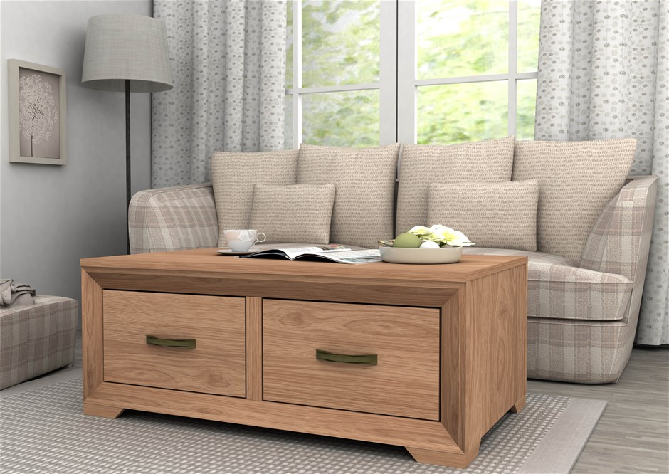 Designed With Classic Elegance Coffee Table Saxon Oak