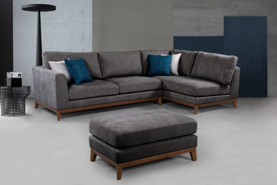 Solid wooden frame Corner Sofa 3 Seater