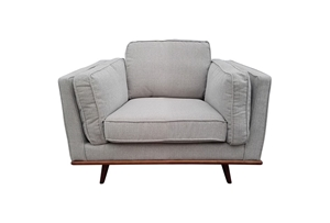 Solid wooden frame Sofa 1 Seater Beige