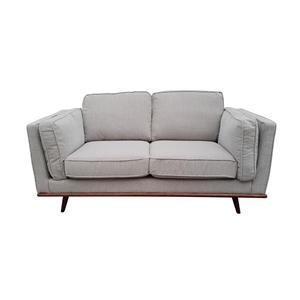 Solid wooden frame Sofa 2 Seater Beige