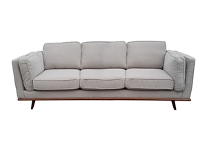 Solid wooden frame Sofa 3 Seater Beige