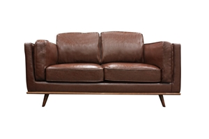 Solid wooden frame Sofa 2 Seater Brown P