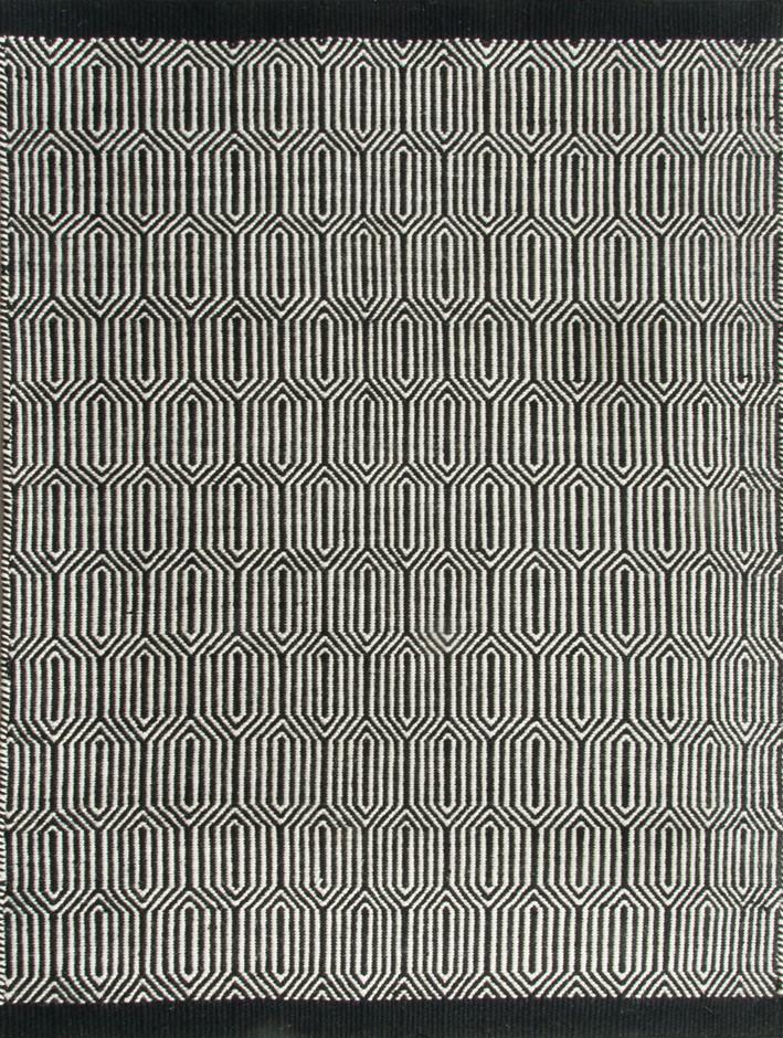 New Rug - MILLIE WOOL Black - 110 x 160cm