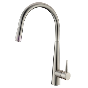 Brushed Nickel Pull Out Kitchen Mixer Ta