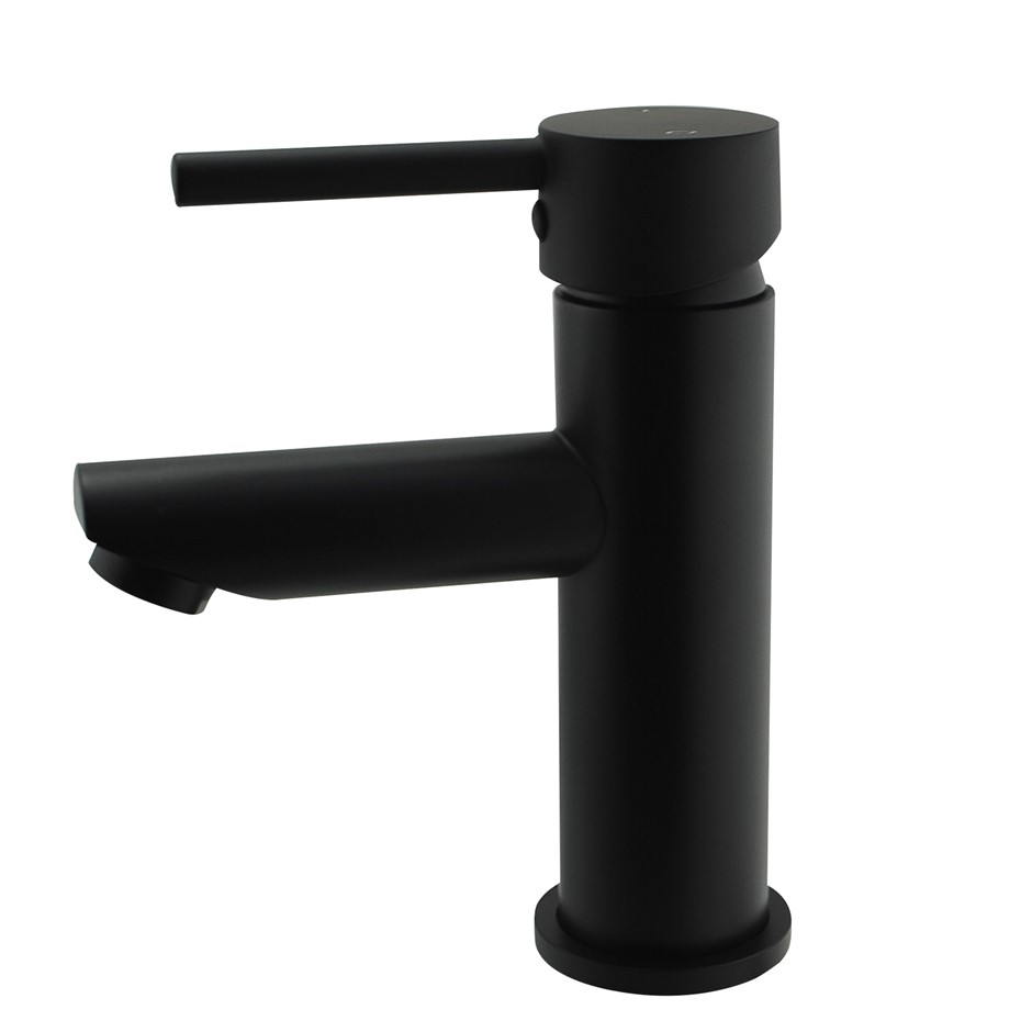 Round Black Basin Mixer Tap Brass Faucet Watermark and WELS Approved