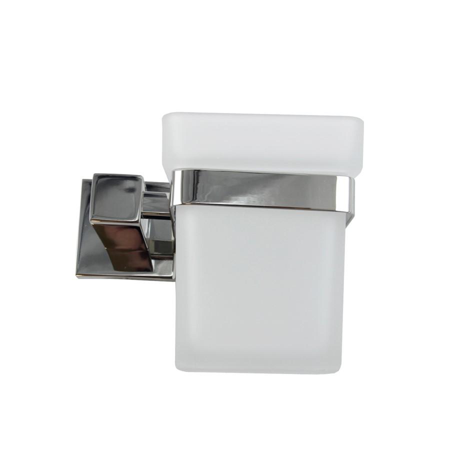 Square Chrome 304 Stainless Steel Toilet Brush Holder