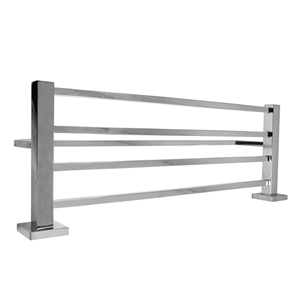 Square Chrome 304 Stainless Steel Towel