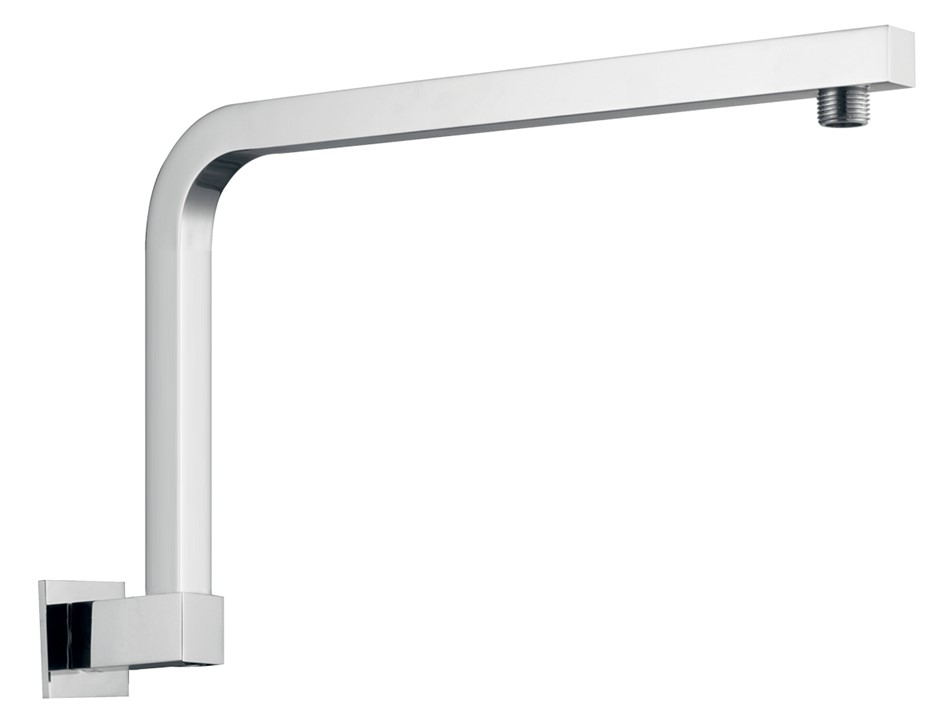 Square Chrome Wall Mounted Shower Arm(Brass)