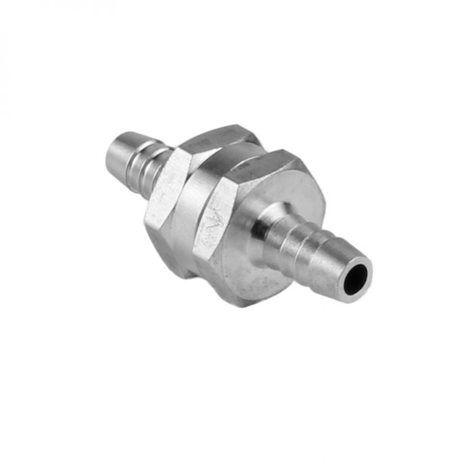 "6mm 1/4"" Aluminium Allow One Way Non Return Check Valve Fuel Petrol Diesel"