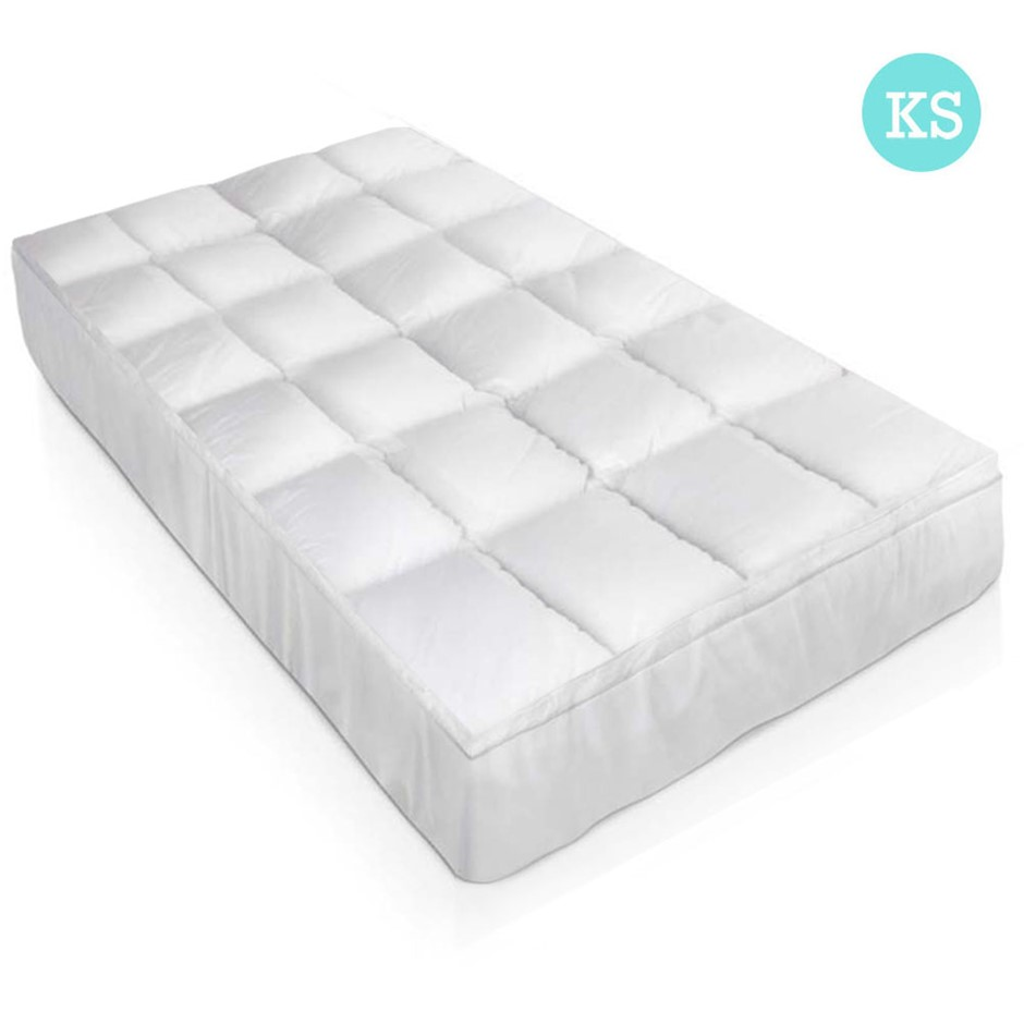 Goose Down Feather Mattress Topper King Single