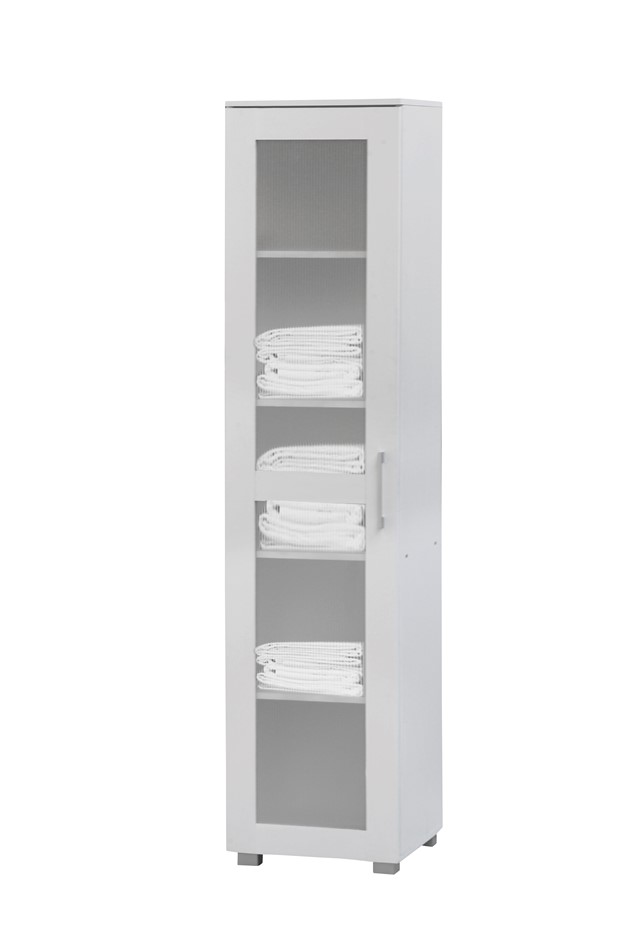 Aspen Cupboard Single Door Tall White