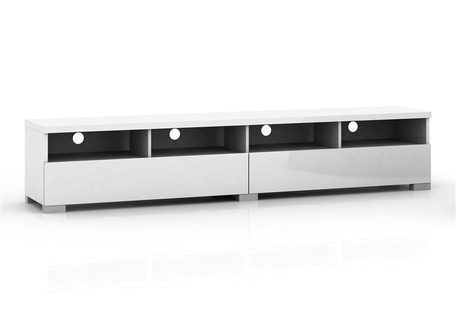 Elara High Gloss Entertainment Unit 2m - White