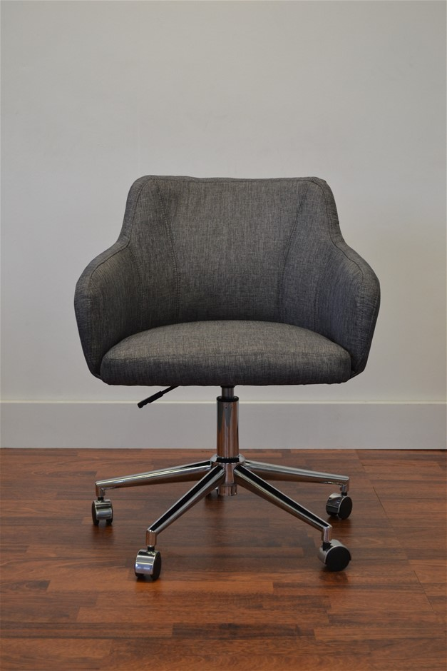 Davis Fabric Executive Office Chair - Charcoal