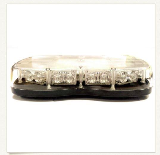 Slimline LED Warning Light CLEAR 12V & 24V Magnetic Base Multi-Function