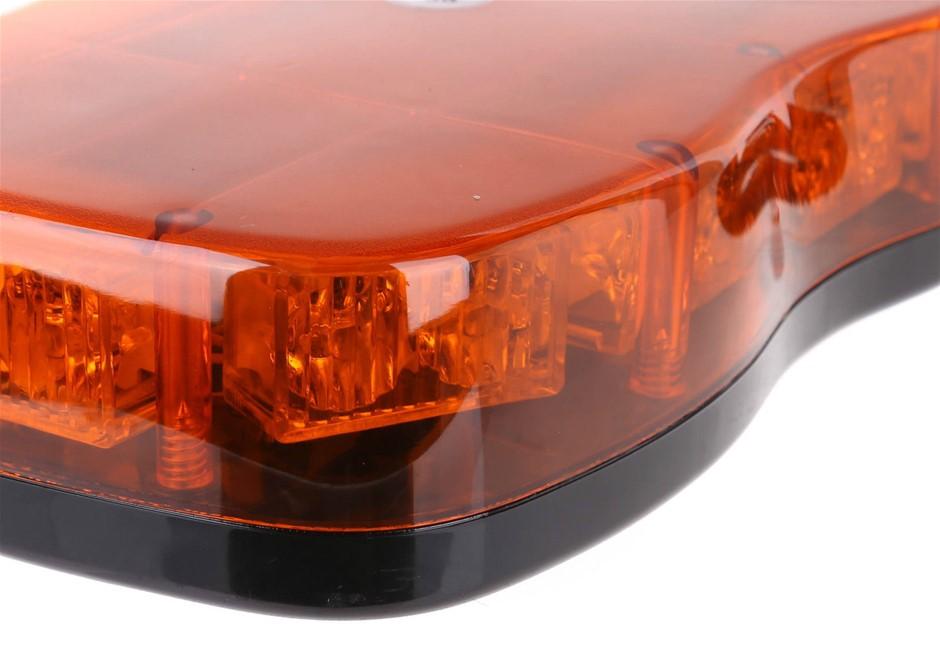 JMV Slimline LED Warning Light AMBER 12V & 24V Magnetic Base Multi-Function
