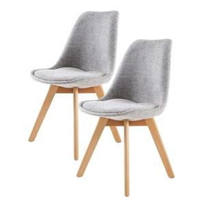 Replica Eames Fabric Padded Dining Chair