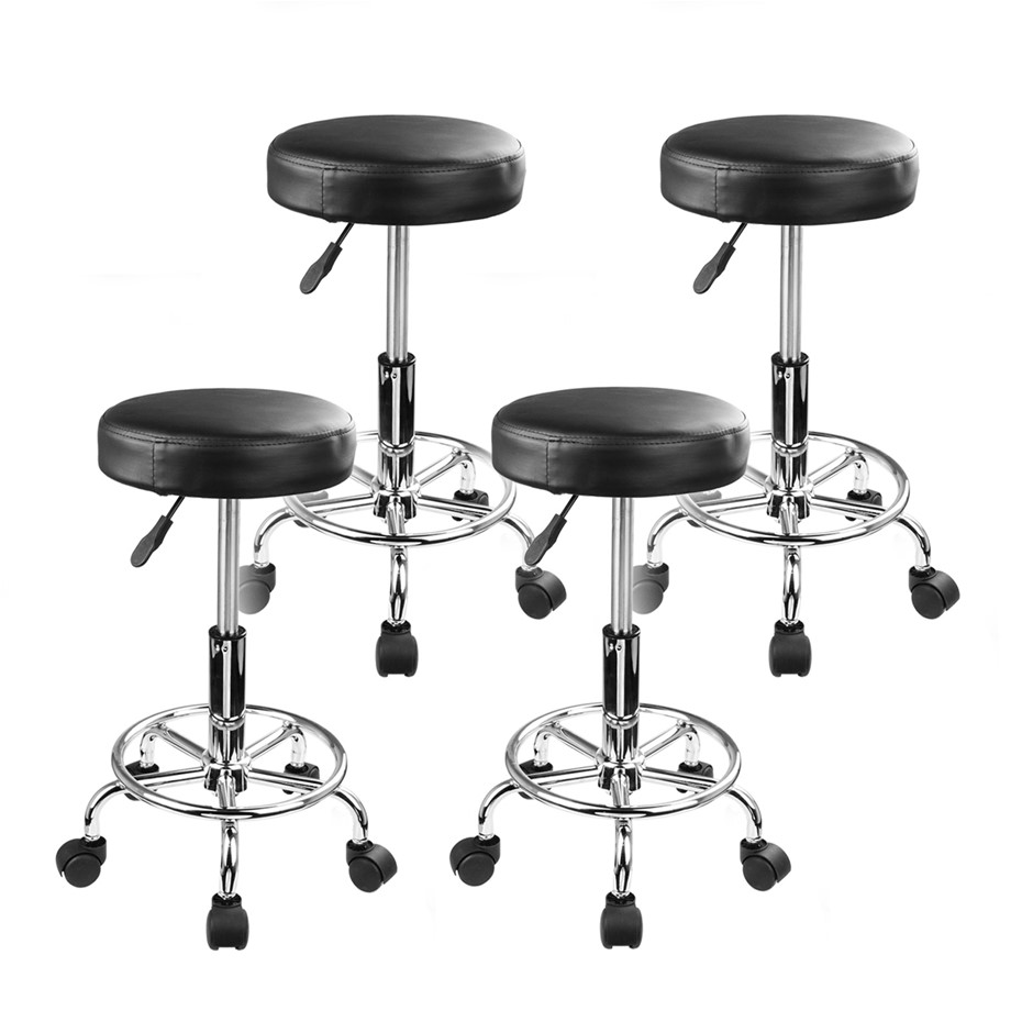 Round Salon Stool - BLACK X4