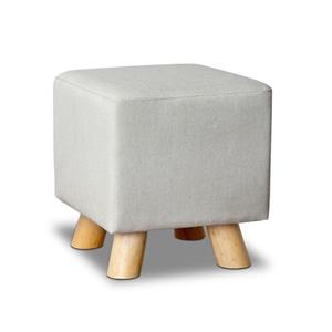 Artiss Fabric Square Foot Stool - Beige