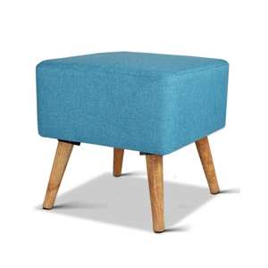 Artiss Fabric Square Foot Stool - Blue