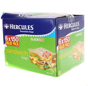 6 x 150 HERCULES Click Zip Lock Sandwich