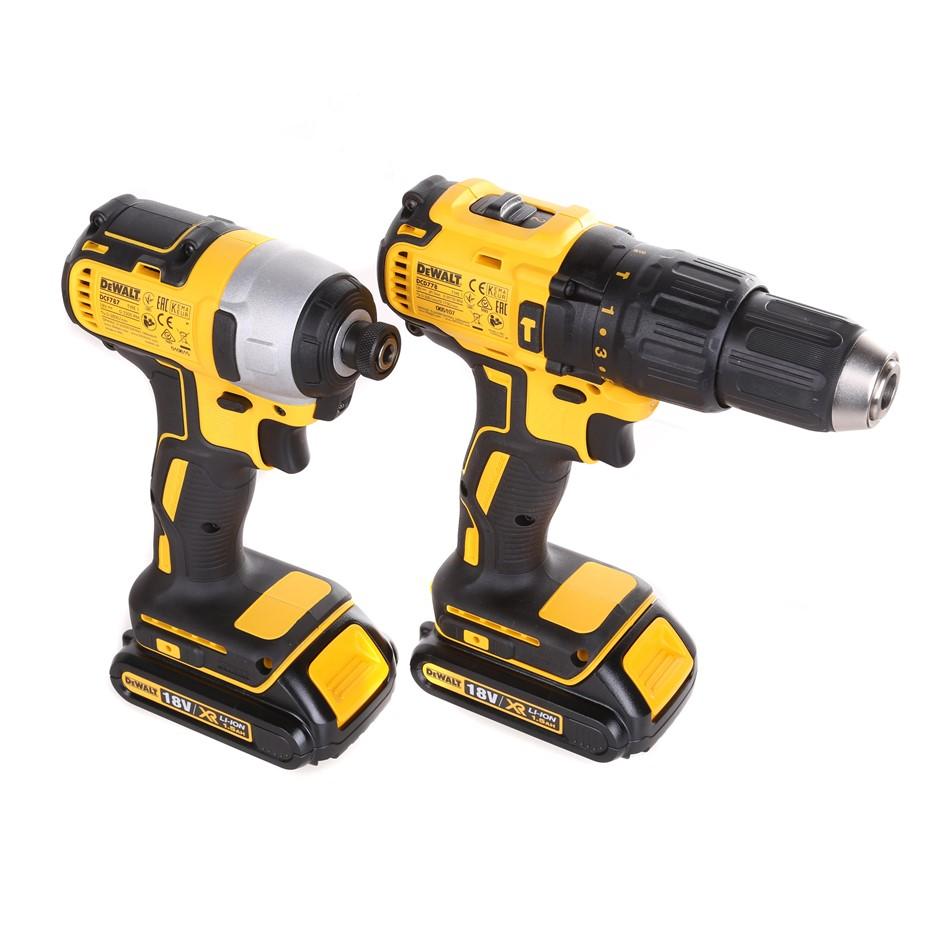 DeWALT 2pc 18V Brushless Combo Drill Kit Comprising Hammer & Impact Drills,